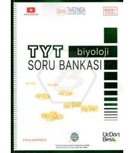 ÜçDörtBeş TYT Biyoloji Soru Bankası 2021 Model