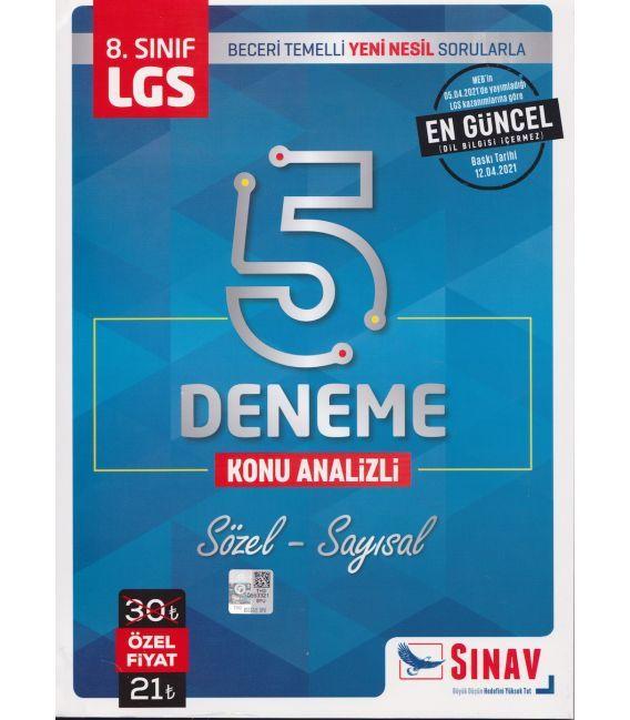8.Sınıf LGS 5 Deneme  Sözel - Sayısal Sınav Yayınları