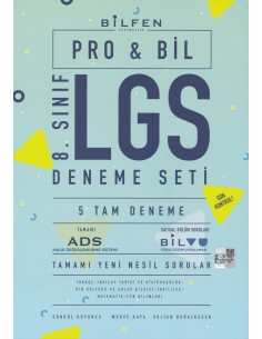 Bilfen Yayınları  LGS 8. Sınıf Probil Deneme Seti 5 Adet Deneme