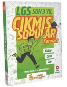 8.Sınıf LGS Son 3 Yıl Çıkmış Sorular Karması Şeker Portakalı Yayıncılık