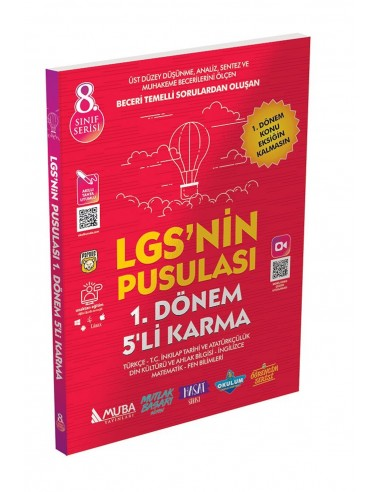 Muba Yayınları 8. Sınıf LGS nin Pusulası 1. Dönem 5 li Karma Deneme