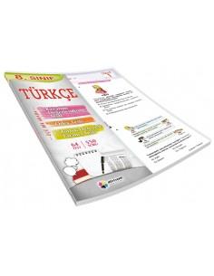 Dörtrenk Yayınları 8.Sınıf Türkçe Renkli Yaprak Test