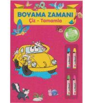 Parıltı Yayınları Okul Öncesi Boyama Zamanı(Çiz-Tamamla)