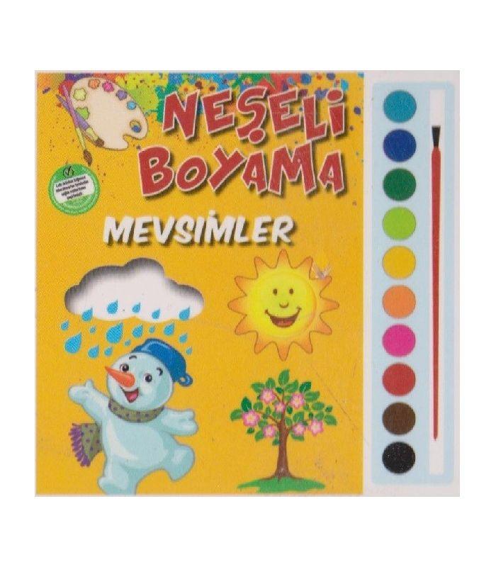 Parıltı Yayınları Okulöncesi Neşeli Boyama Mevsimler