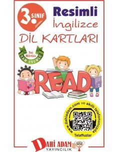 Dahi Adam Yayınları İlkokul 3.Sınıf İngilizce Kelime Kartları