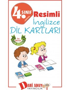 Dahi Adam Yayınları İlkokul 4.Sınıf İngilizce Kelime Kartları