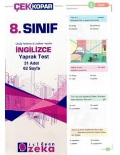 İşleyen Zeka Yayınları Ortaokul 8. Sınıf İngilizce Yaprak Test