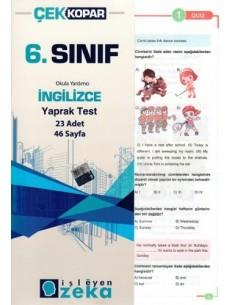 İşleyen Zeka Yayınları Ortaokul 6. Sınıf İngilizce Yaprak Test