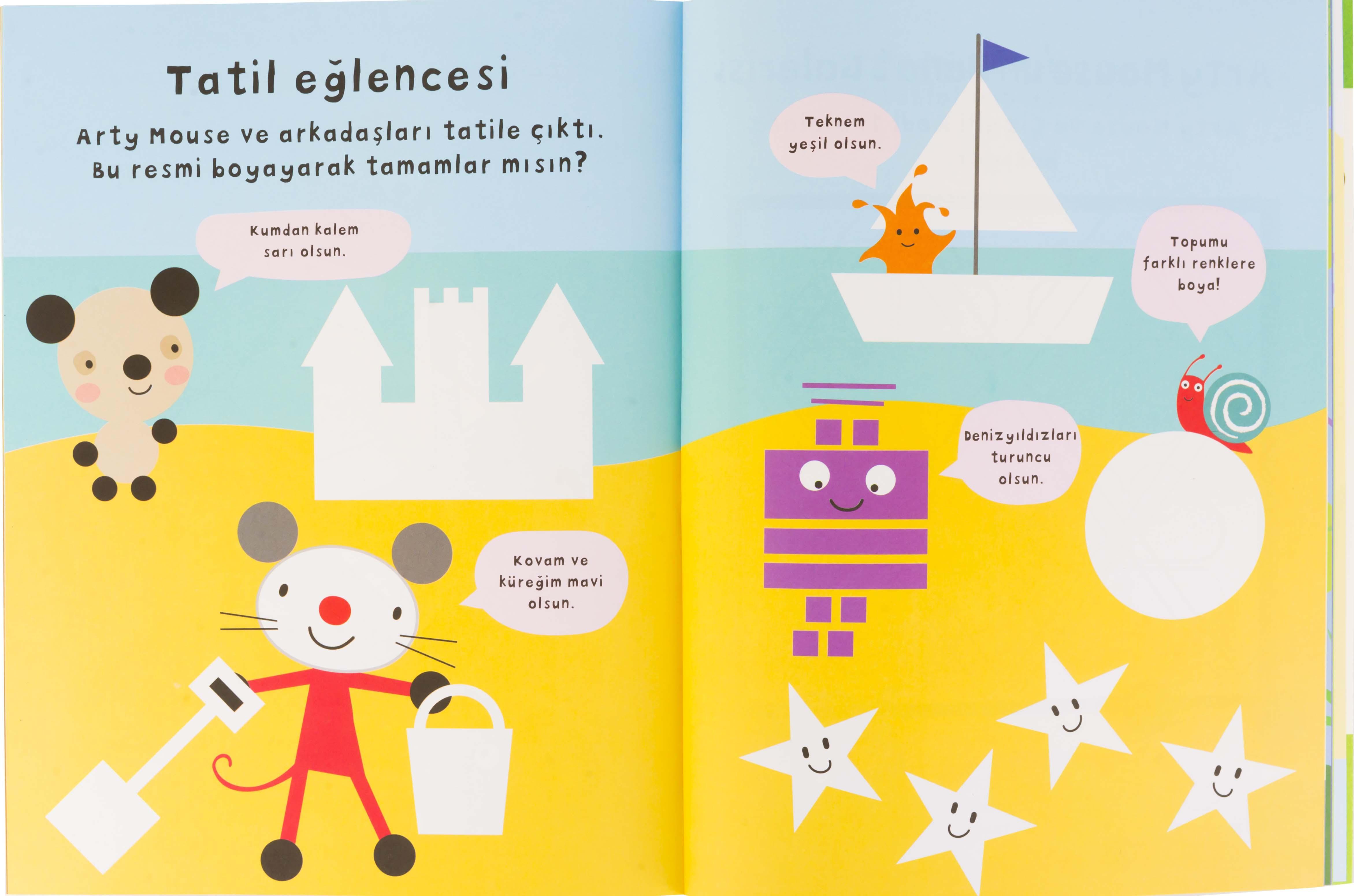 Eolo Oyuncak Ve Kitap Okul Oncesi Arty Mouse Boyama Etkinlikleri